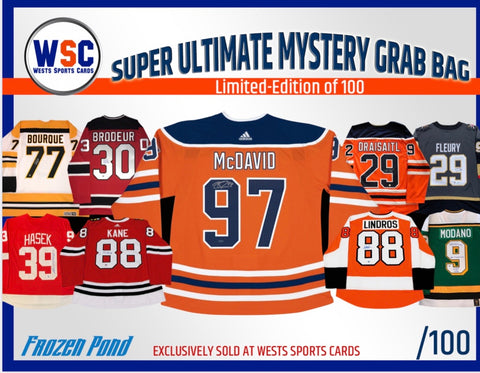 Group Break#1069- 1 FROZEN POND/WSC EXCLUSIVE MYSTERY BOX /100 TEAM RANDOM TRIPLE UP $35/Spot