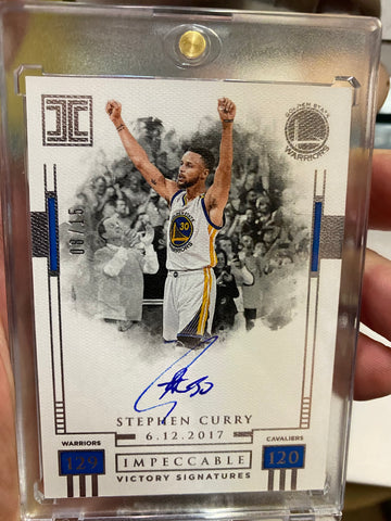 2019-20 Panini Impeccable Stephen Curry Auto #08/15