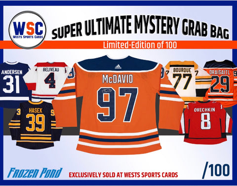 Group Break#1025- 1 FROZEN POND/WSC EXCLUSIVE MYSTERY BOX /100 TEAM RANDOM TRIPLE UP $35/Spot