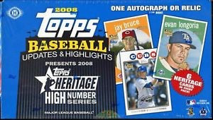 2008 Topps Heritage Update & Highlights (High Number) Baseball Hobby Box