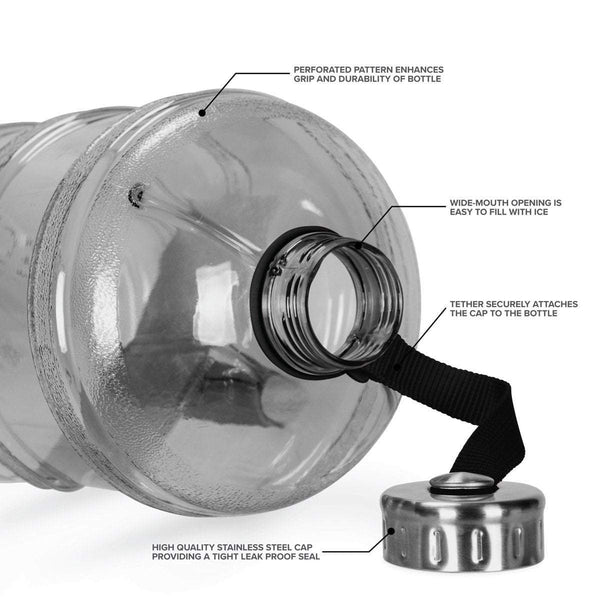 JD 1 Gallon BPA FREE Bottle w/ Stainless Steel Cap