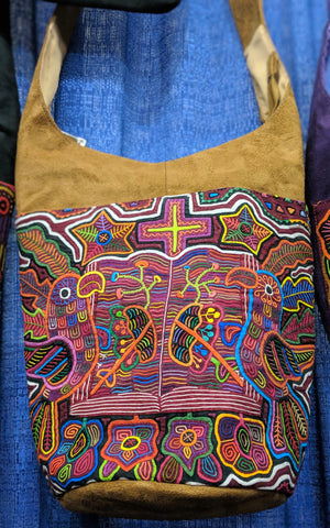 Tribal Textile Vegan Mola Bucket Purse - Nubi