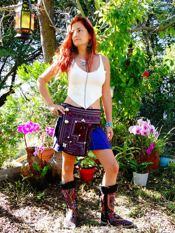 Tribal Hipster Belt with Pockets - Elpis