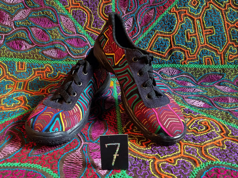 Boho Lace up Tribal Mola Shoes - 7 - Ever Lasting