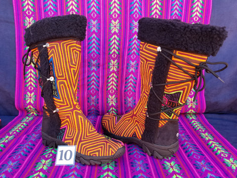 Copy of Cossack Shaman Zipper Mola Boot  Size 10 - Geleon