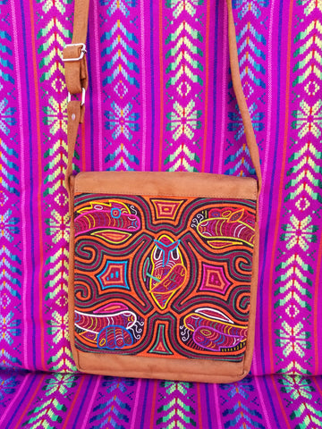 Tribal Textile Vegan Mola Purse - Owley