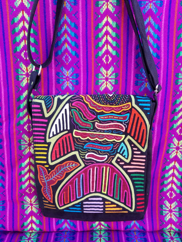 Tribal Textile Vegan Mola Purse - Nahar
