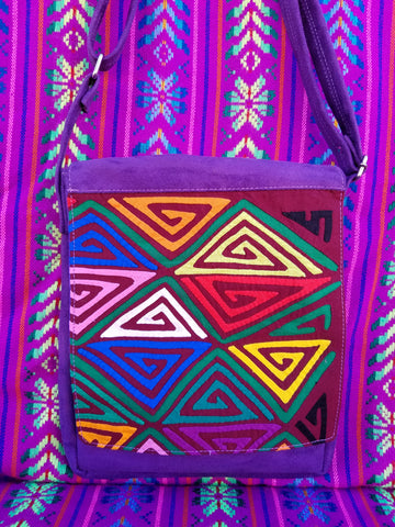Tribal Textile Vegan Mola Purse - Narya