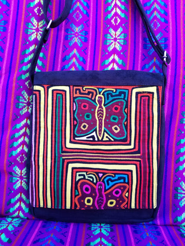 Tribal Textile Vegan Mola Purse - Nubi