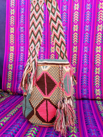 Tribal Hand Woven Vegan Bucket Bag - Lalaith