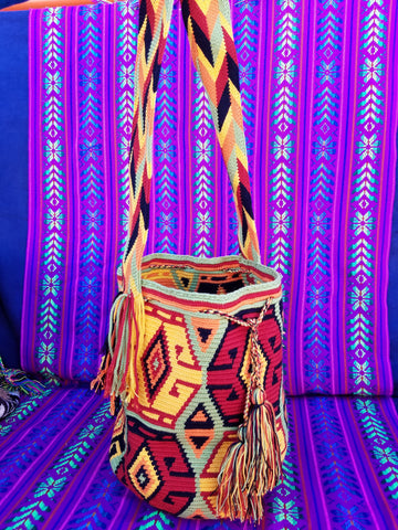 Tribal Hand Woven Vegan Bucket Bag - Legolin