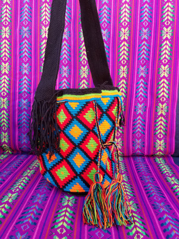 Tribal Hand Woven Vegan Bucket Bag - Luinil