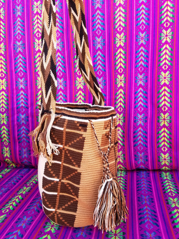 Tribal Hand Woven Vegan Bucket Bag - Magora