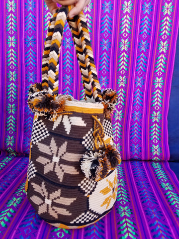 Tribal Hand Woven Vegan Bucket Bag - Mereth