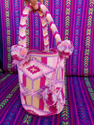 Tribal Hand Woven Vegan Bucket Bag - Minas