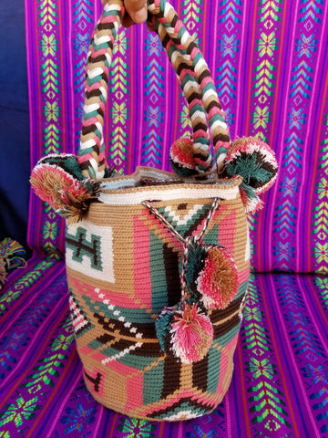 Tribal Hand Woven Vegan Bucket Bag - Miriel