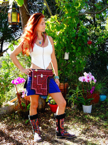 Tribal Hipster Belt with Pockets - Hecate