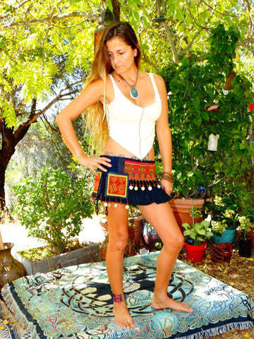 Tribal Hipster Belt with Pockets ~ Hera