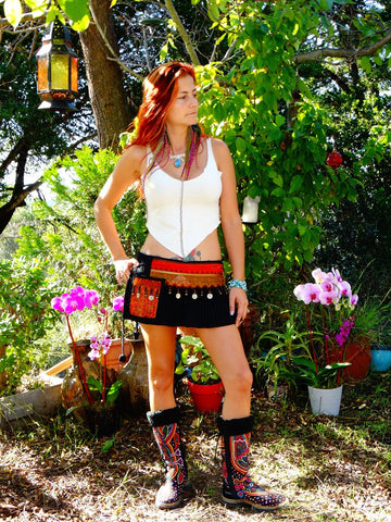 Tribal Hipster Belt/Skirt with Pockets - Taygete
