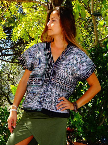 Tribal Hand Crafted Shirt - Cinco