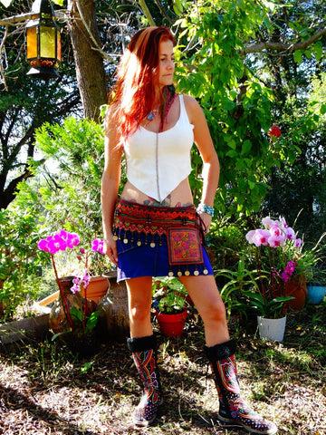 Tribal Hipster Belt with Pockets - Aphrodite