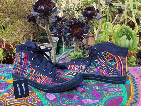 Mid-top Mola Shoes Size 11 - Leaves of wonder