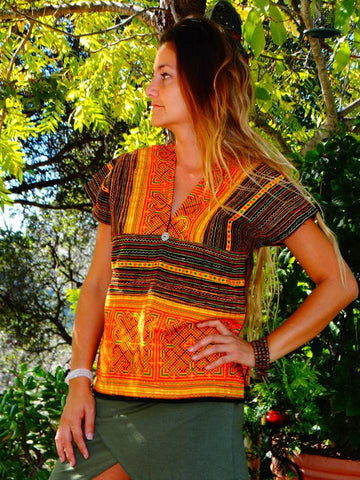 Tribal Hand Crafted Shirt - Siete