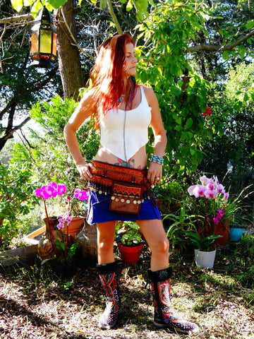 Tribal Hipster Belt with Pockets - Artemis