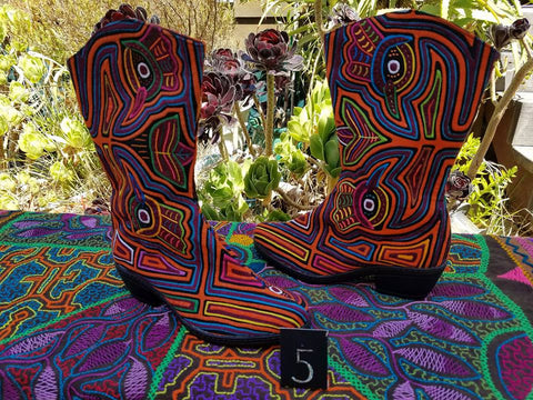 Cowgirl Zipper Mola Boot - Size 5 - Peacocks