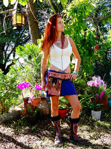 Tribal Hipster Belt with Pockets - Astraea