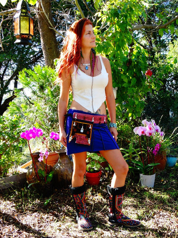 Tribal Hipster Belt with Pockets - Atlas