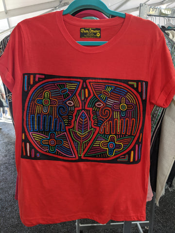 Tribal Hand Crafted Shirt - Pajaros XL