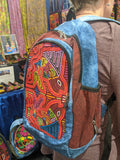 Tribal Textile Vegan Mola Backpack - Fishy Love