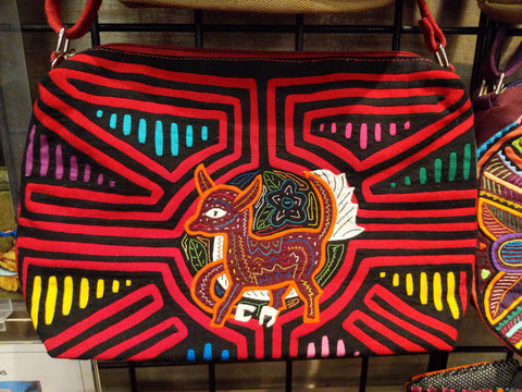 Tribal Textile Vegan Mola Purse - Bambi