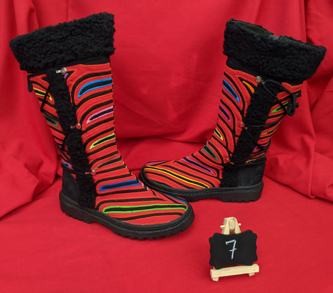 Cossack Shaman Zipper Mola Boot  Size 7 - Angelo