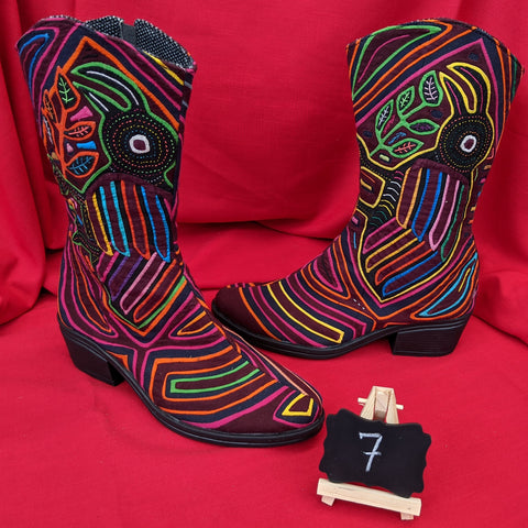 Cowgirl Zipper Mola Boots Size 7 - Manakel