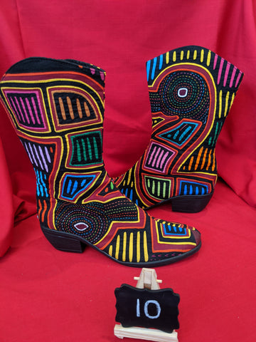 Cowgirl Zipper Mola Boot - Size 10 - Patos