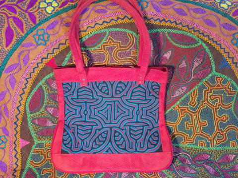 Tribal Textile Vegan Mola Purse Geometric