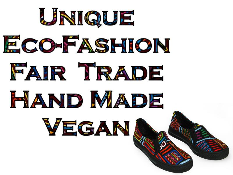 Mola Shoes Vegan Tribal Eco-Fashion Wearable-Art KunaPrints