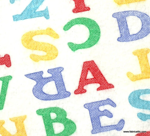 ABC alphabet letters flannel AE Nathan fabric
