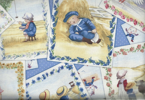 Nursery Rhymes postcards Elizabeth Studios fabric