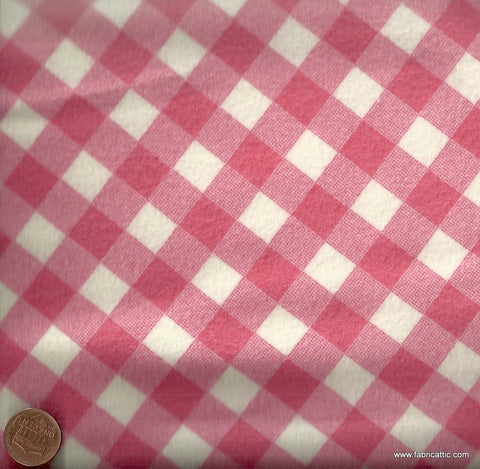 Bias check pink Michael Miller flannel fabric