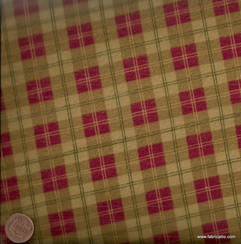 T641 plaid brown red Maywood Studio flannel