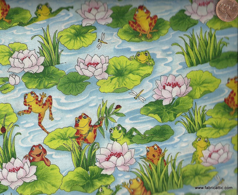 Leap Frog G216 lilypads RJR fabric