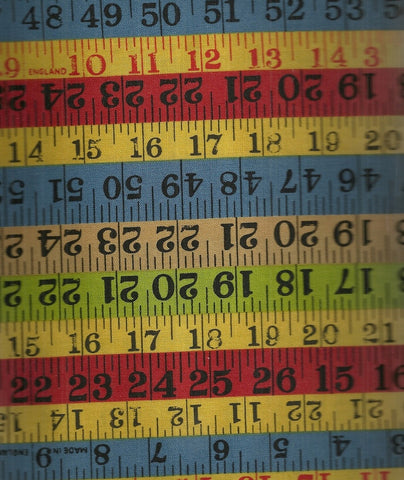 Building Blocks American Jane tape measure fabric Moda