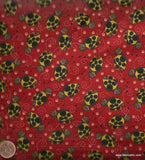Bug Facts ladybugs red Avlynn fabric