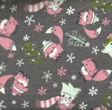 Winter Fox flannel gray Camelot fabric