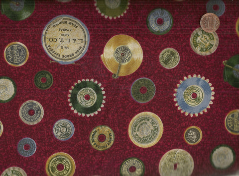 Spools B890 sewing retro vintage maroon Lakehouse fabric