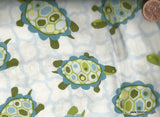 Lily Pond  blue turtles In the Beginning fabric