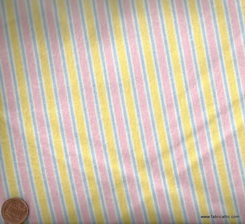 Cozy Cotton 8977-198 Robert Kaufman pink yellow flannel stripe fabric